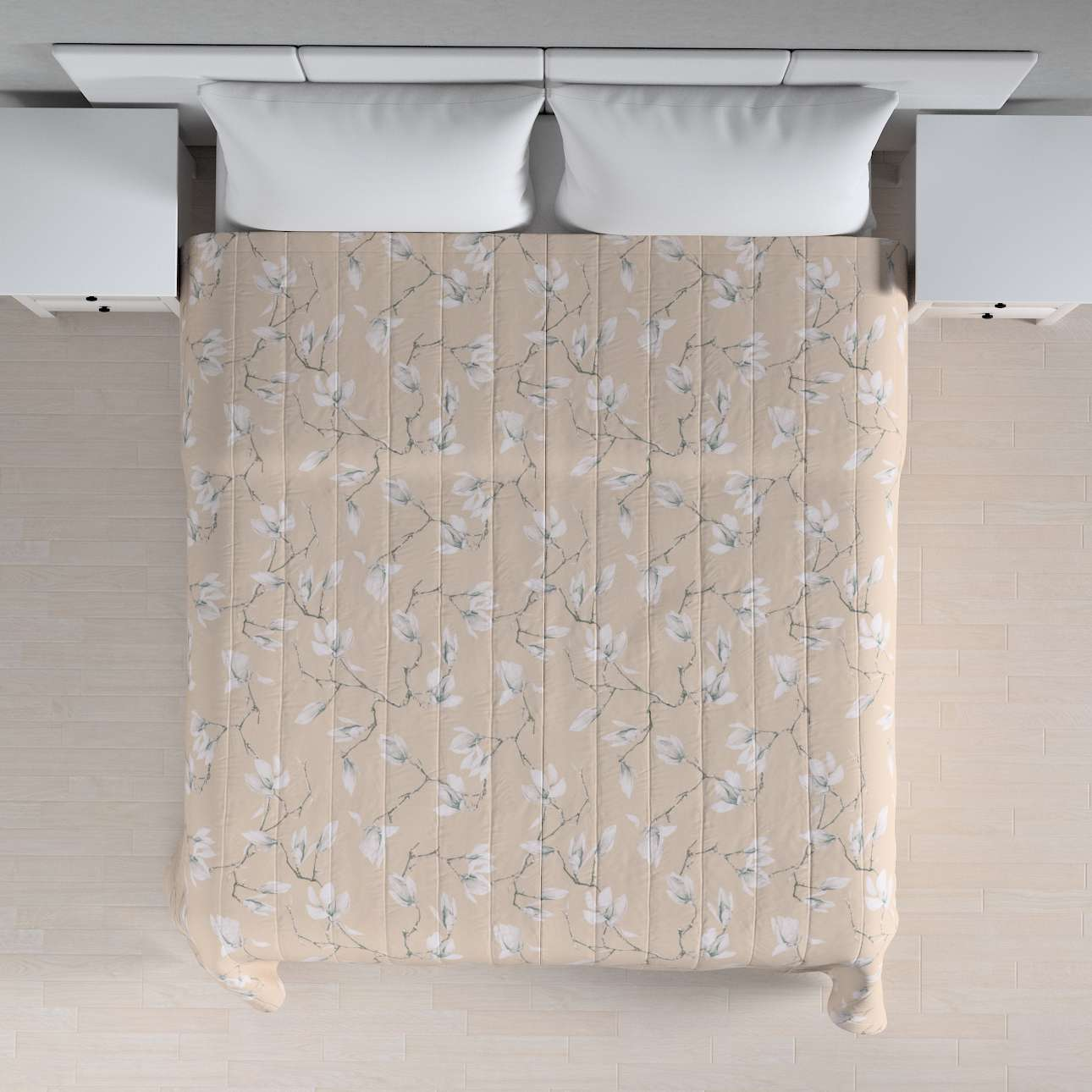 Sengeteppe quiltet<br/>10cm striper 260 × 210 cm fra kolleksjonen Flowers, Stoffets bredde: 311-12