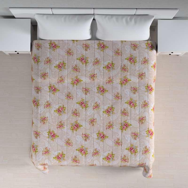 Sengetæppe quiltet<br/>10cm striber fra kollektionen Flowers, Stof: 311-15