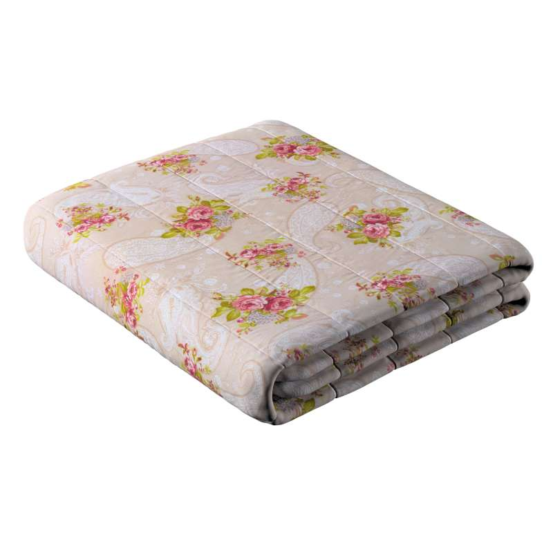 Stripe quilted throw in collection Flowers, fabric: 311-15