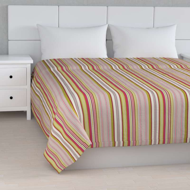 Stripe quilted throw in collection Flowers, fabric: 311-16
