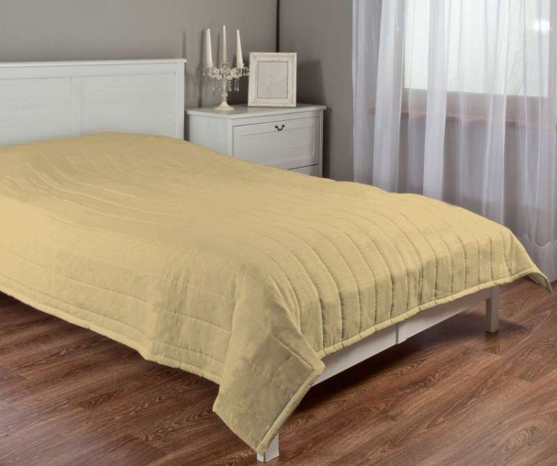Stripe quilted throw in collection Living, fabric: 101-14