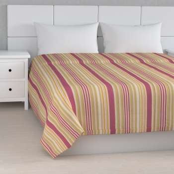 Stripe quilted throw in collection Londres, fabric: 122-09