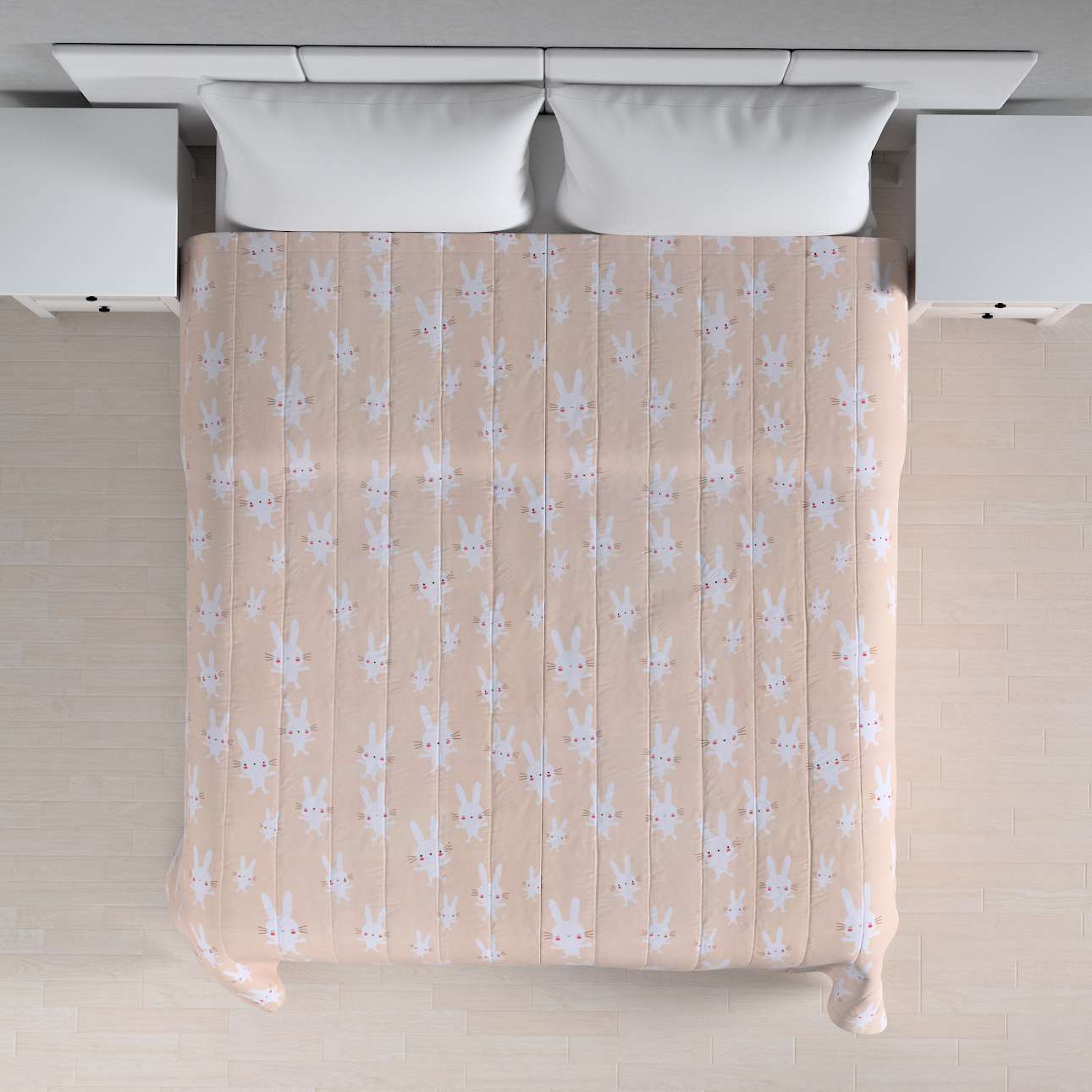 Quilted throw (vertical quilt pattern) 260 x 210 cm (102 x 83 inch) in collection Apanona, fabric: 151-00