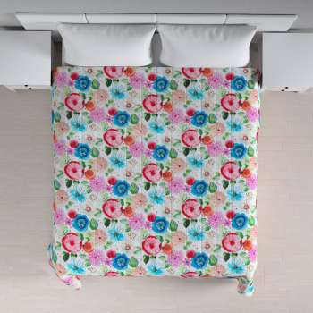 Quilted throw (vertical quilt pattern) 260 x 210 cm (102 x 83 inch) in collection New Art, fabric: 140-24