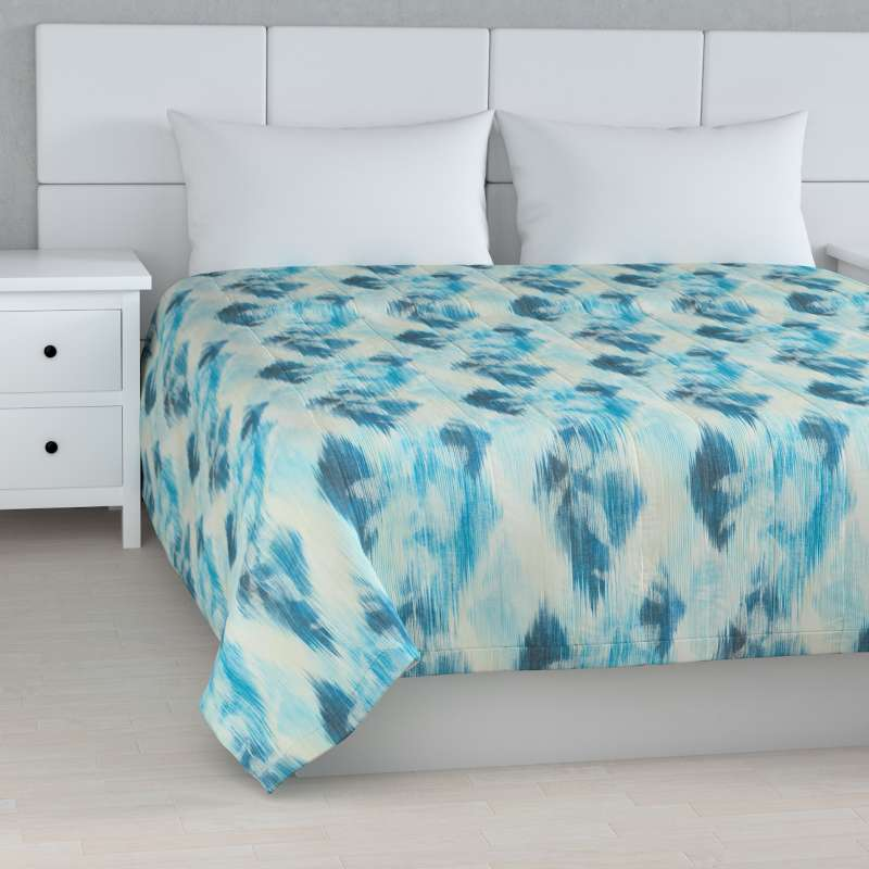 Stripe quilted throw in collection Aquarelle, fabric: 140-71