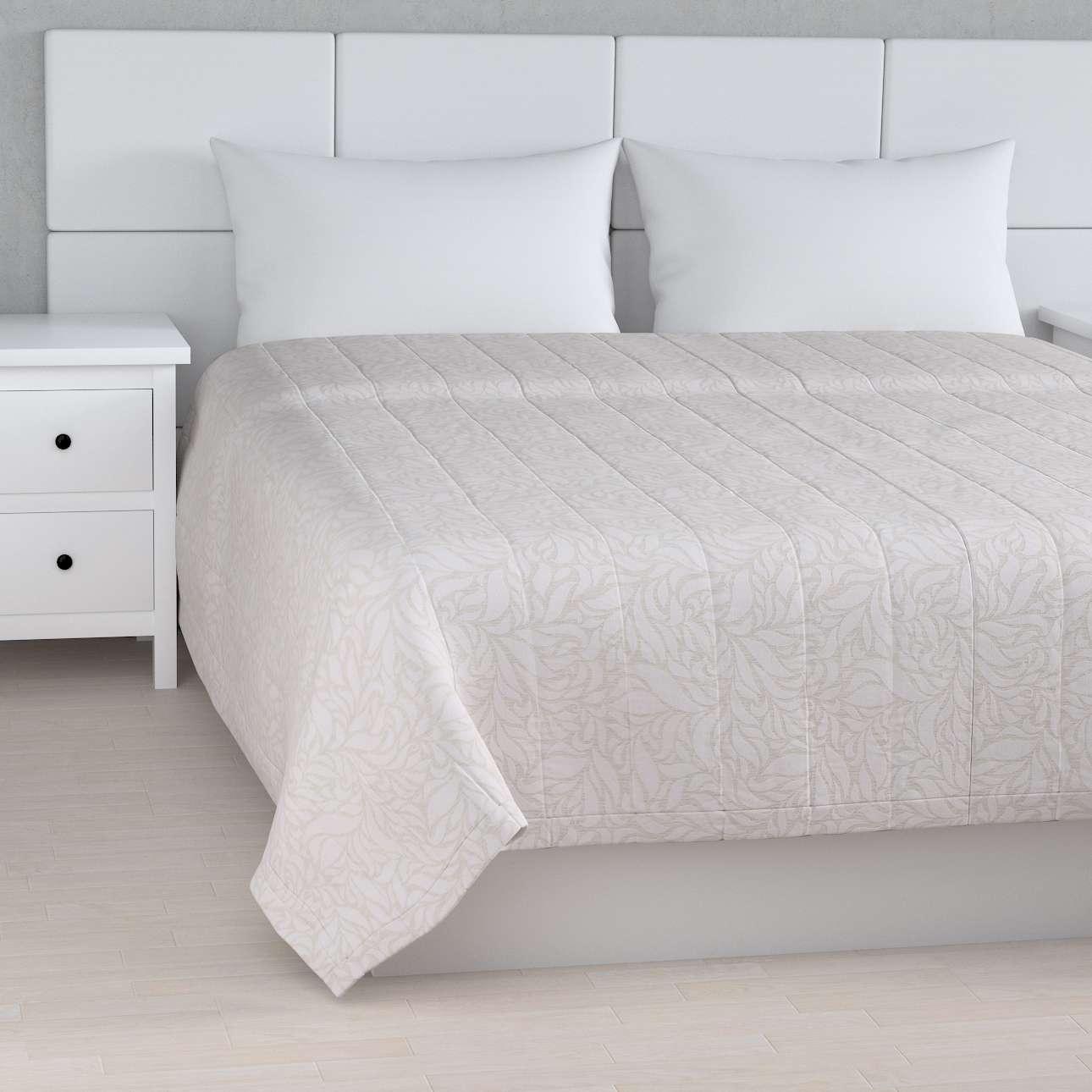 Moderne Sengetæppe quiltet 10cm striber, Grå og hvid Jaquardvævet - Dekoria QF17