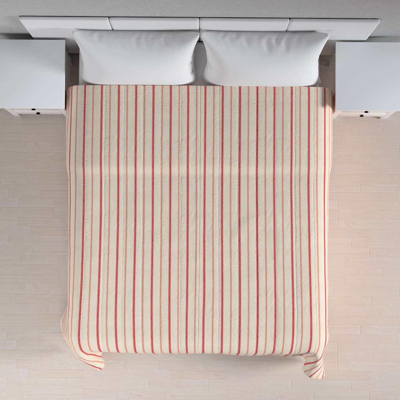 Sengeteppe quiltet<br/>10cm striper 120g/m2 260 x 210 cm fra kolleksjonen Avinon, Stoffets bredde: 129-15