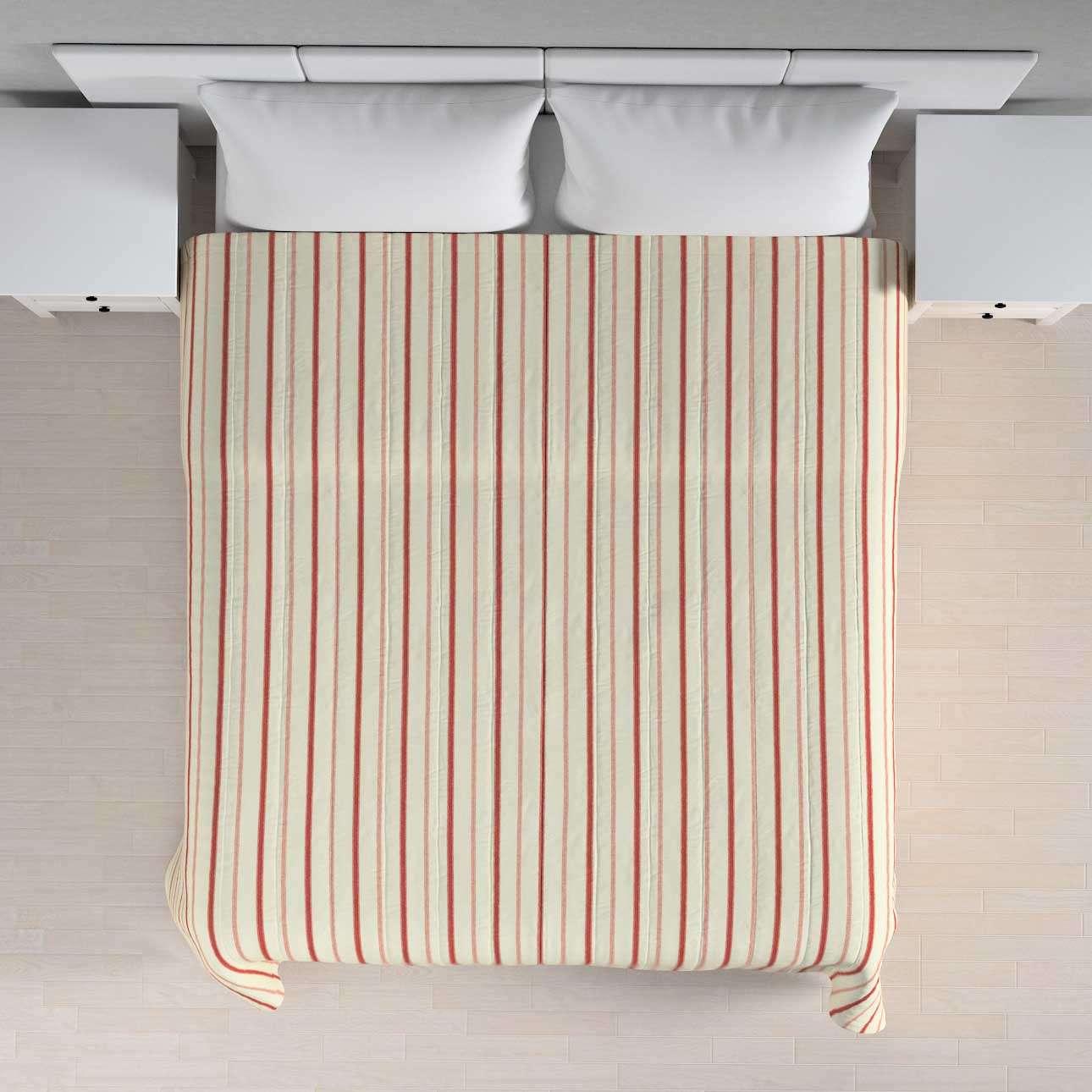 Sengeteppe quiltet<br/>10cm striper fra kolleksjonen Avinon, Stoffets bredde: 129-15