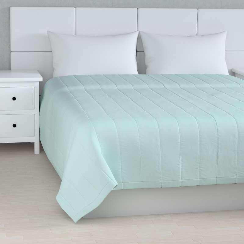 Sengetæppe quiltet<br/>10cm striber fra kollektionen Cotton Panama, Stof: 702-10