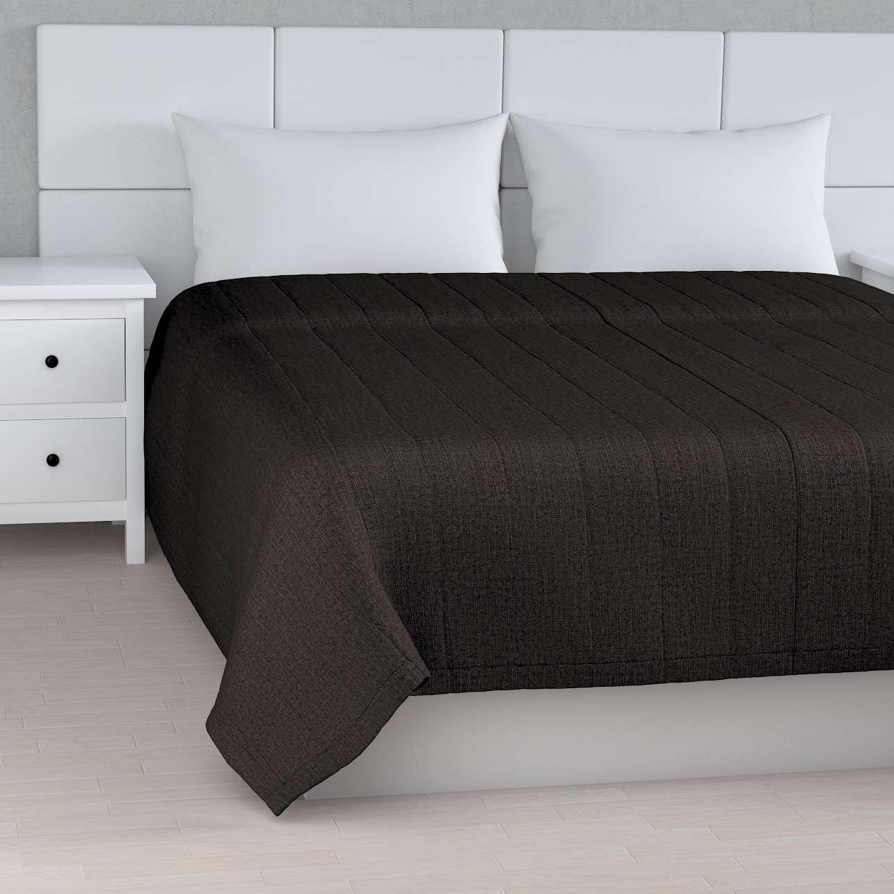Tagesdecke mit Streifen-Steppung, braun, 170 × 210 cm, Vintage   Heimtextilien > Decken und Kissen > Tagesdecken und Bettüberwürfe   Muster   Dekoria