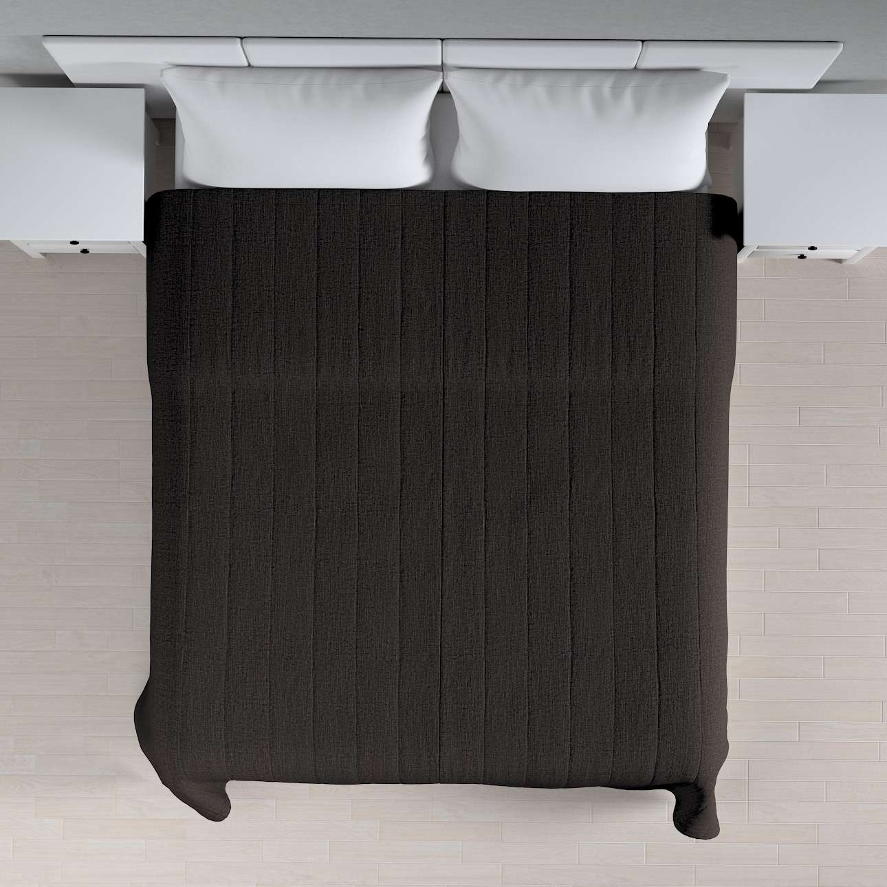 Sengetæppe quiltet<br/>10cm striber 260 x 210 cm fra kollektionen Vintage, Stof: 702-36