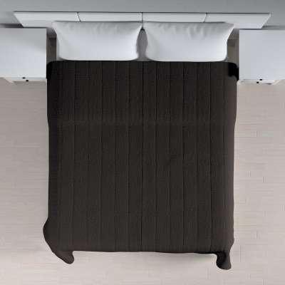 Sengetæppe quiltet<br/>10cm striber 702-36 Støvbrun Kollektion Etna
