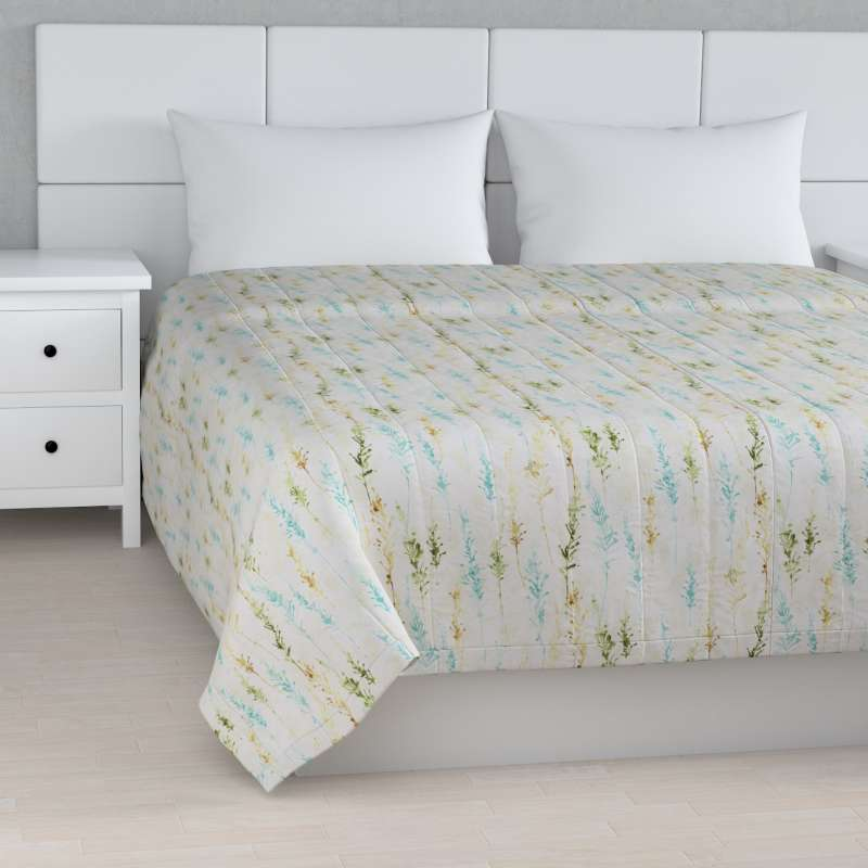 Stripe quilted throw in collection Acapulco, fabric: 141-38