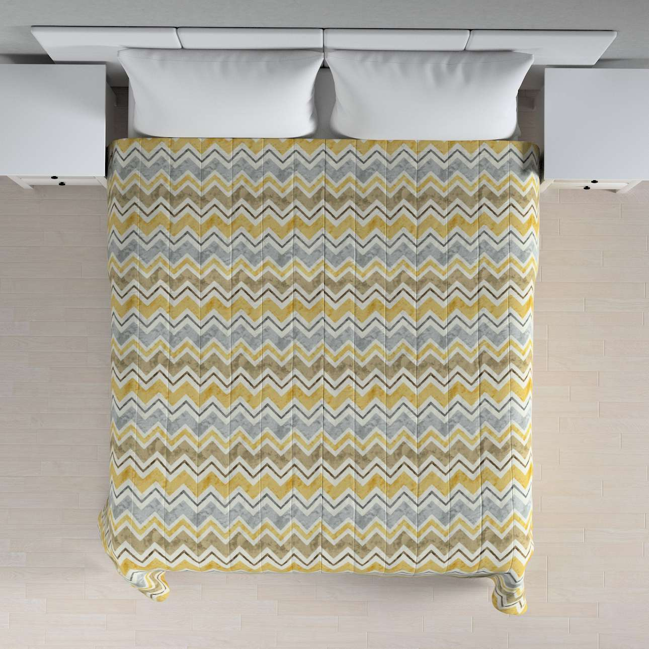 Stripe quilted throw 260 x 210 cm (102 x 83 inch) in collection Acapulco, fabric: 141-39