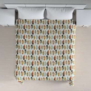 Quilted throw (vertical quilt pattern) 260 x 210 cm (102 x 83 inch) in collection Urban Jungle, fabric: 141-43