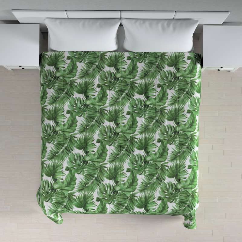 Stripe quilted throw in collection Tropical Island, fabric: 141-71