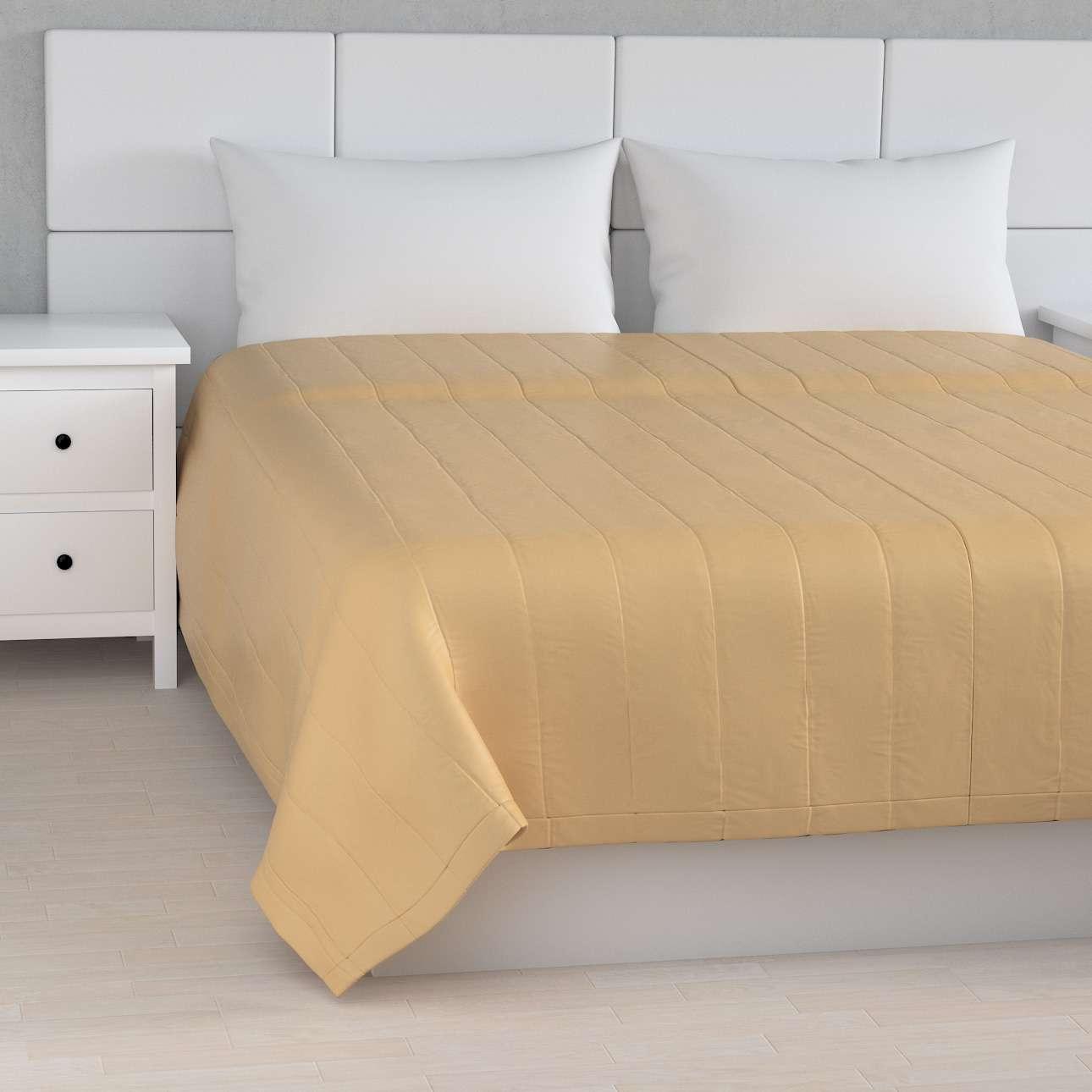 Tagesdecke mit Streifen-Steppung, gold, 170 × 210 cm, Damasco   Heimtextilien > Decken und Kissen > Tagesdecken und Bettüberwürfe   Muster   Dekoria