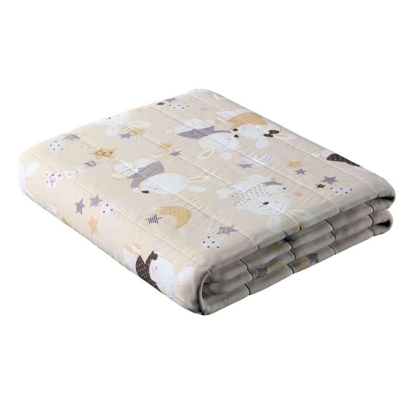 Sengeteppe quiltet<br/>10cm striper fra kolleksjonen Adventure, Stoffets bredde: 141-85