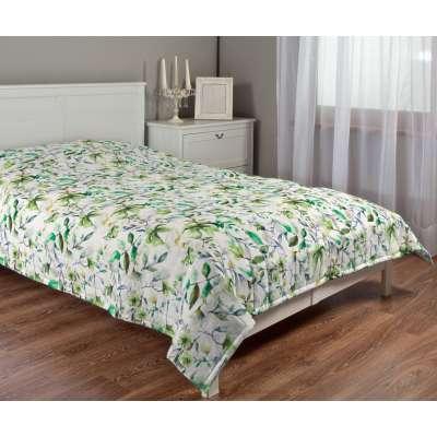 Basic steppelt takaró 704-20 zöld-fehér Méteráru Velvet  Lakástextil