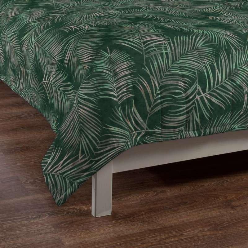 Sengetæppe quiltet<br/>10cm striber fra kollektionen Velvet, Stof: 704-21