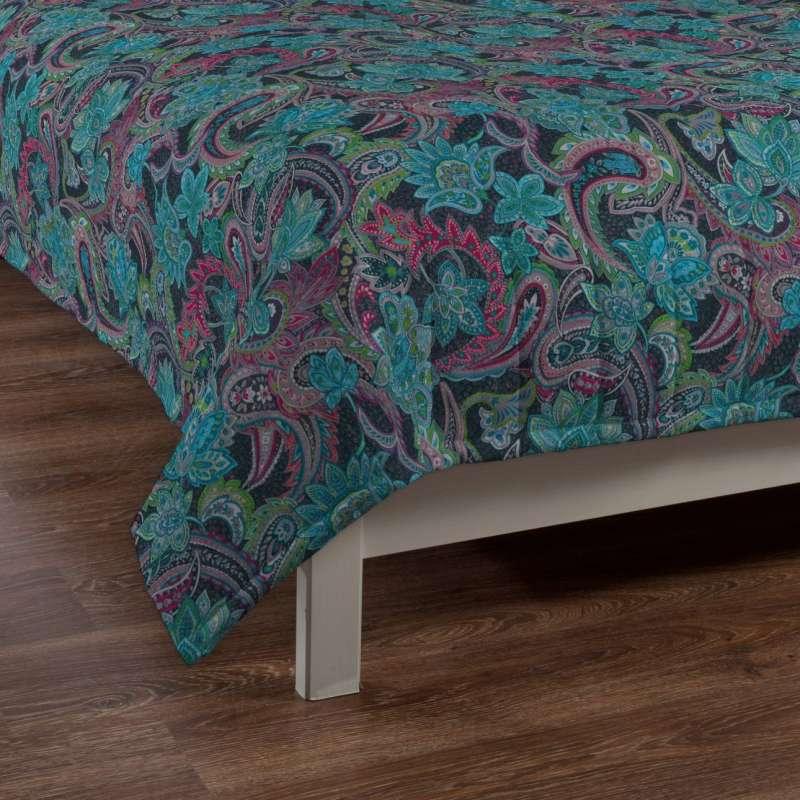 Sengetæppe quiltet<br/>10cm striber fra kollektionen Velvet, Stof: 704-22