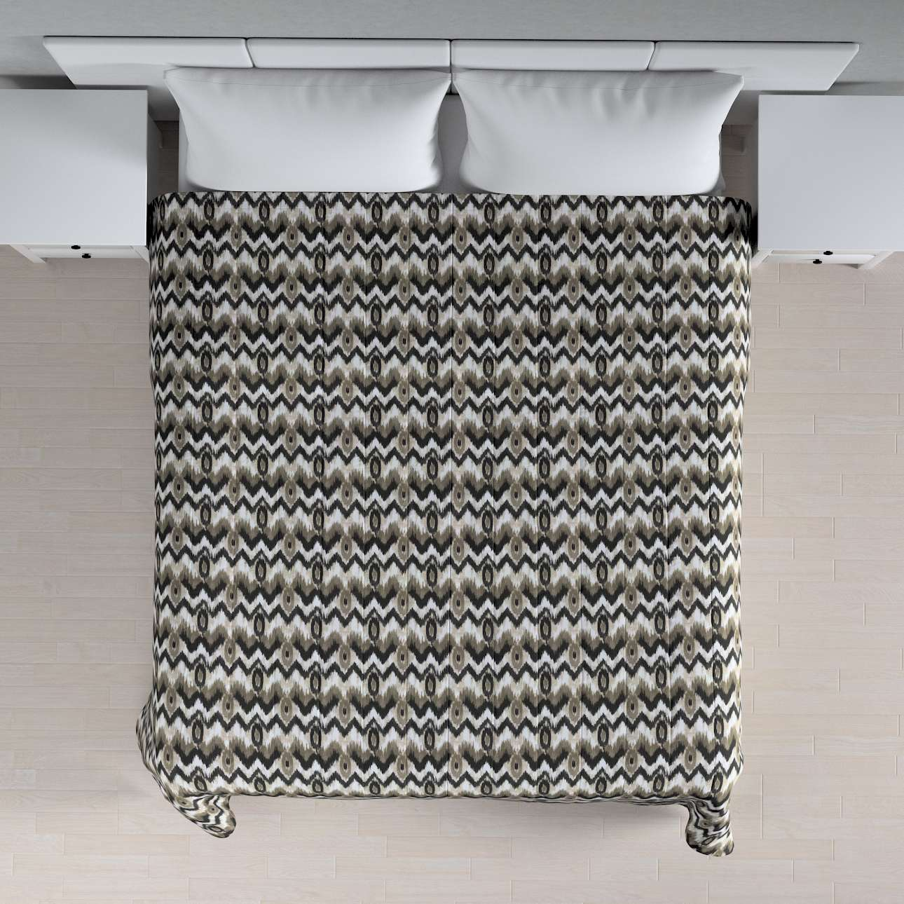 Narzuta pikowana w pasy w kolekcji Modern, tkanina: 141-88