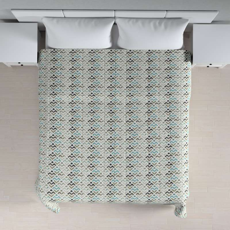 Sengeteppe quiltet<br/>10cm striper fra kolleksjonen Modern, Stoffets bredde: 141-93