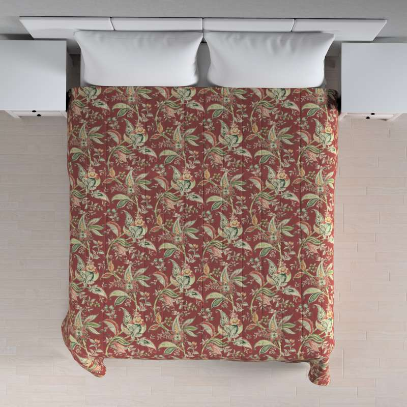 Sengetæppe quiltet<br/>10cm striber fra kollektionen Gardenia, Stof: 142-12