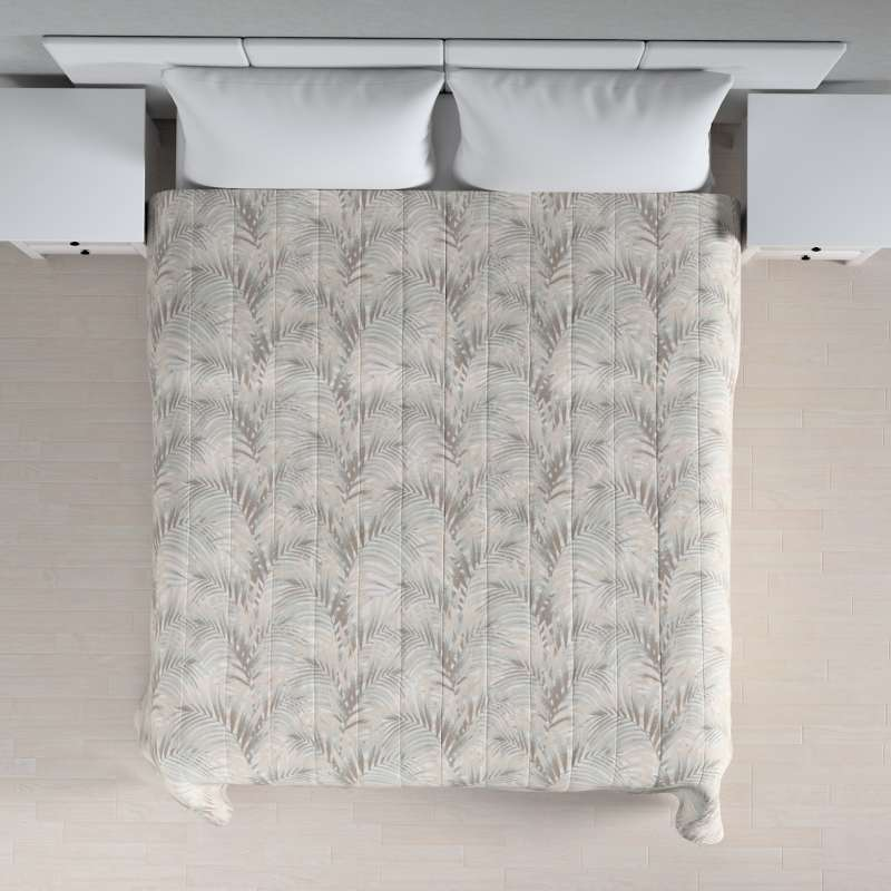 Narzuta pikowana w pasy w kolekcji Gardenia, tkanina: 142-14