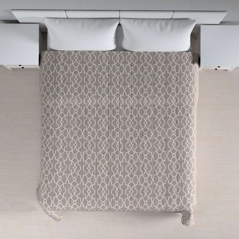 Stripe quilted throw in collection Gardenia, fabric: 142-20