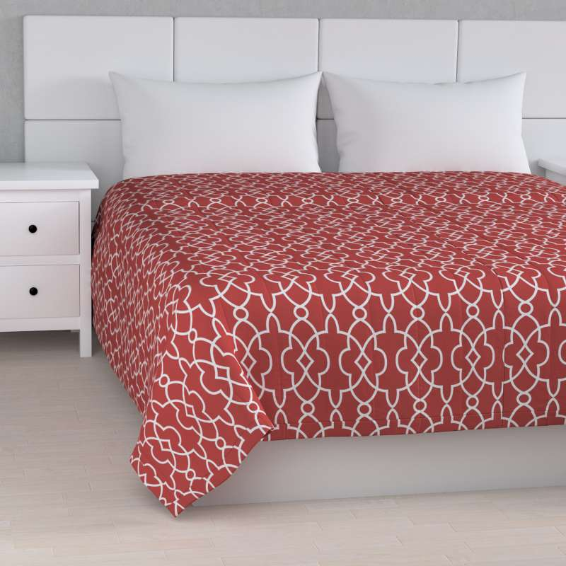 Stripe quilted throw in collection Gardenia, fabric: 142-21