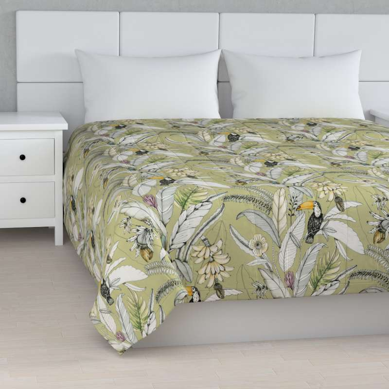 Stripe quilted throw in collection Tropical Island, fabric: 142-65