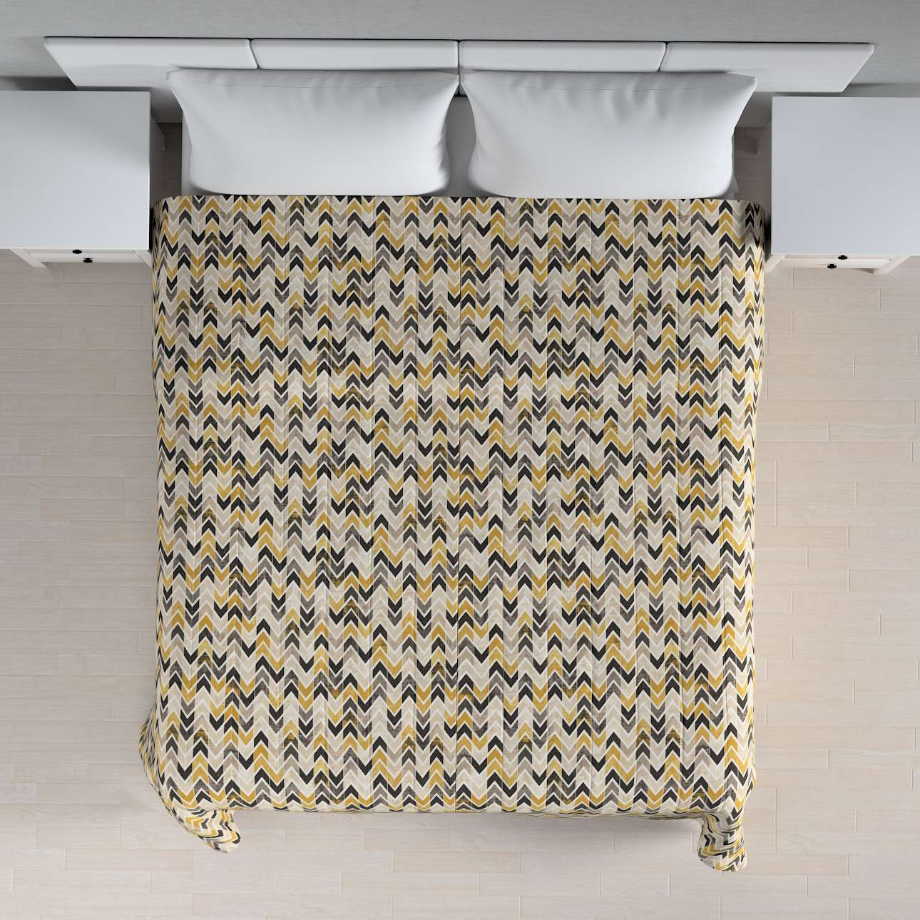 Narzuta pikowana w pasy w kolekcji Modern, tkanina: 142-79