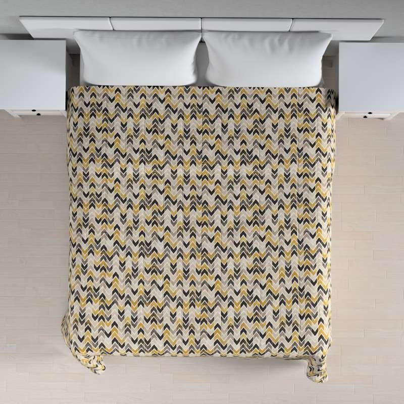 Sengetæppe quiltet<br/>10cm striber fra kollektionen Modern, Stof: 142-79