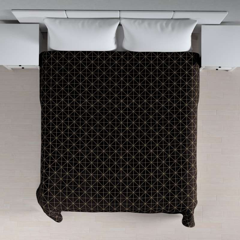 Päiväpeitto tikattu raidat mallistosta Black & White, Kangas: 142-55