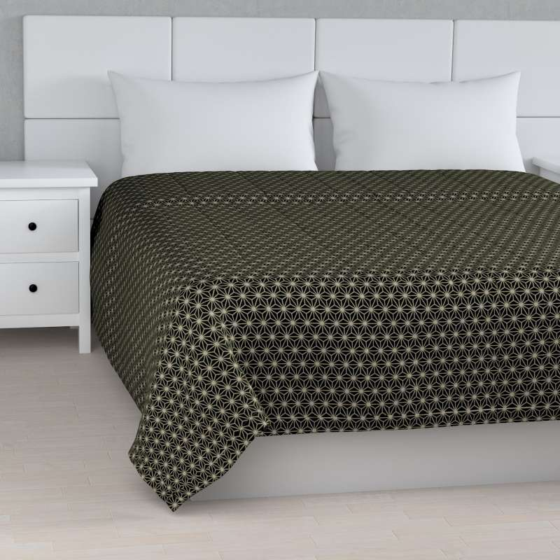 Stripe quilted throw in collection Black & White, fabric: 142-56