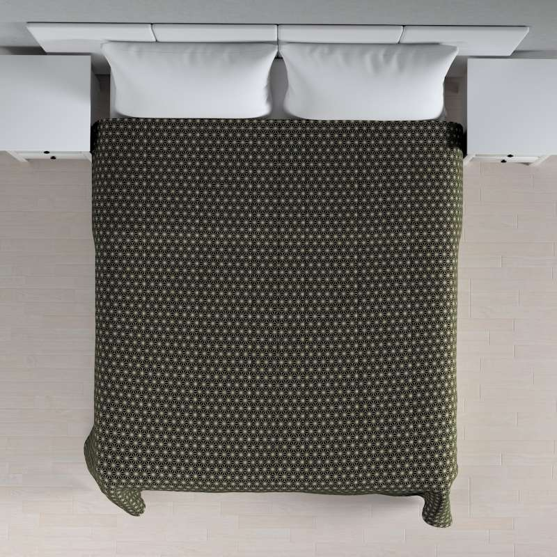 Sengetæppe quiltet<br/>10cm striber fra kollektionen Black & White, Stof: 142-56