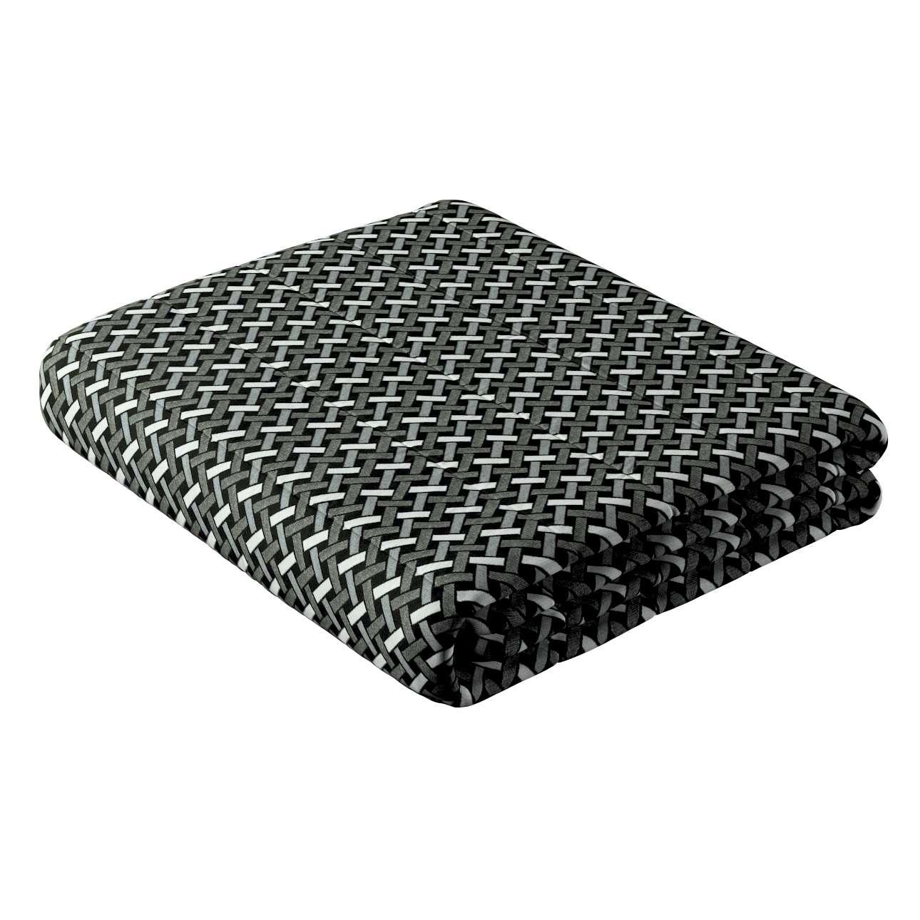Narzuta pikowana w pasy w kolekcji Black & White, tkanina: 142-87
