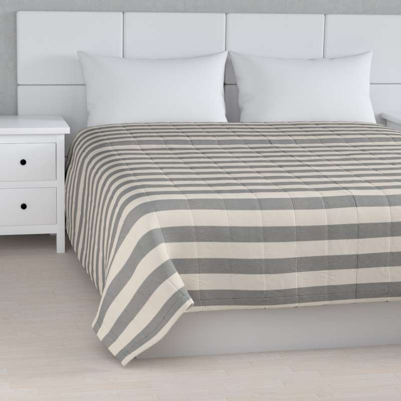 Stripe quilted throw in collection Quadro, fabric: 142-71