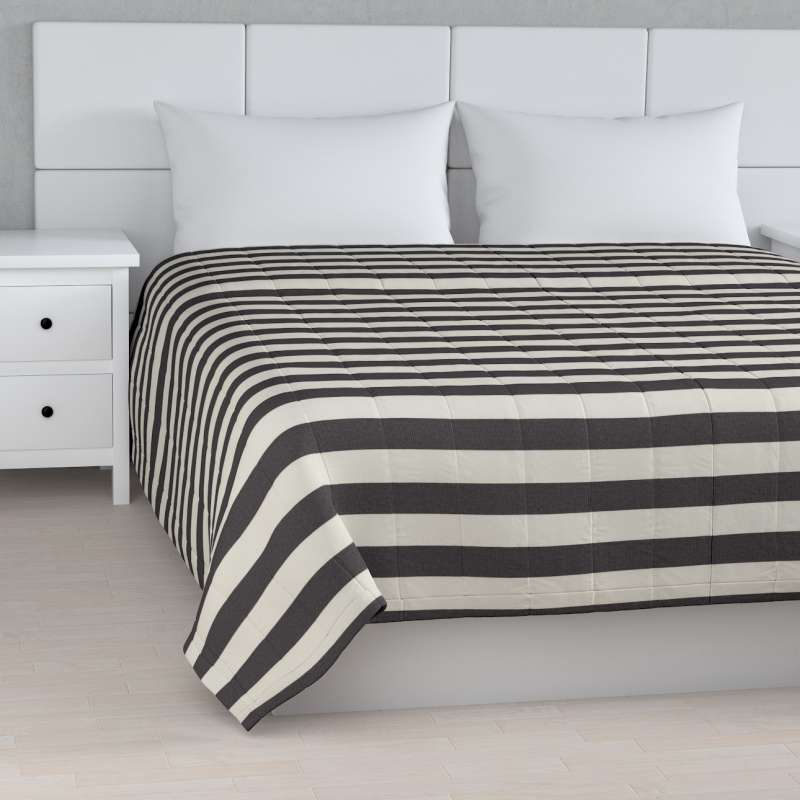 Stripe quilted throw in collection Quadro, fabric: 142-72