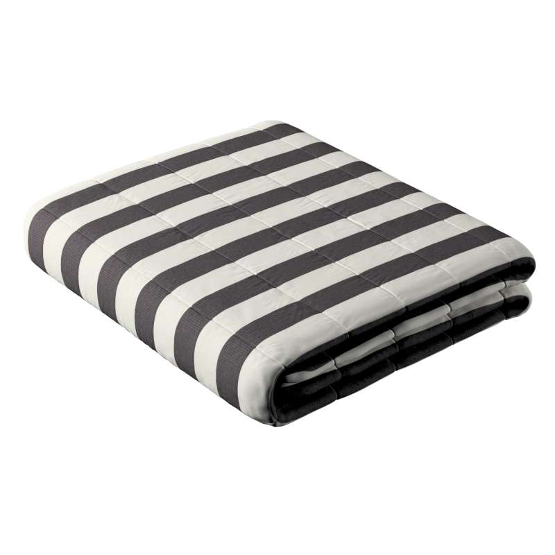Sengeteppe quiltet<br/>10cm striper fra kolleksjonen Quadro, Stoffets bredde: 142-72