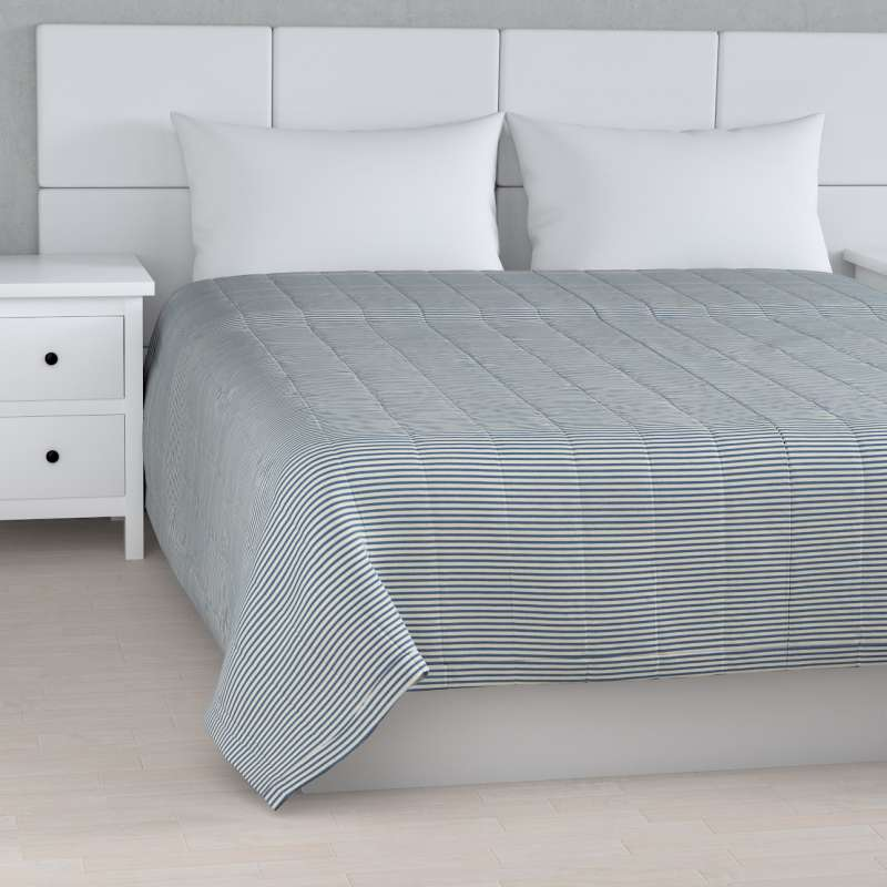 Stripe quilted throw in collection Quadro, fabric: 142-74