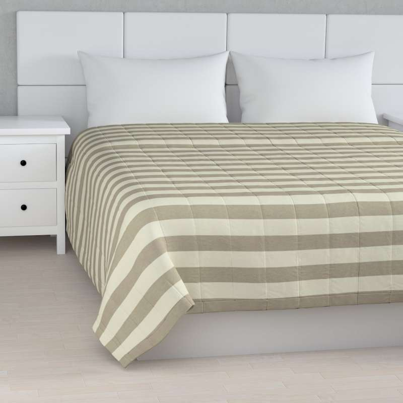 Stripe quilted throw in collection Quadro, fabric: 142-73