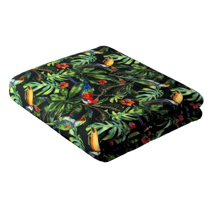 Sengetæppe quiltet<br/>10cm striber fra kollektionen Velvet, Stof: 704-28