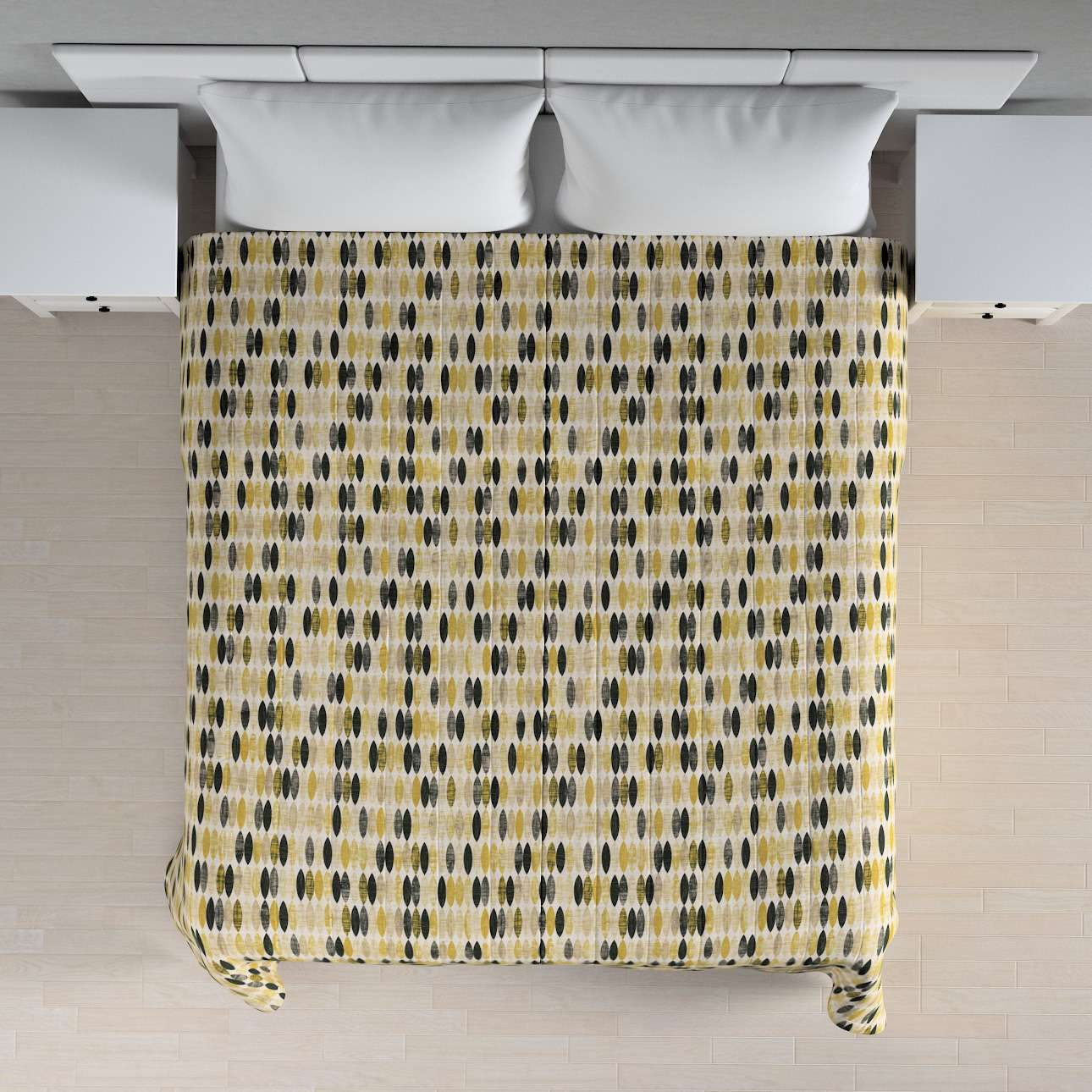 Narzuta pikowana w pasy w kolekcji Modern, tkanina: 142-99
