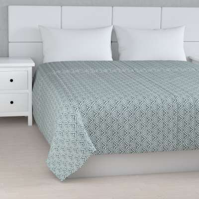 Stripe quilted throw 143-23 green-blue patterns on a white background Collection Comics/Geometrical