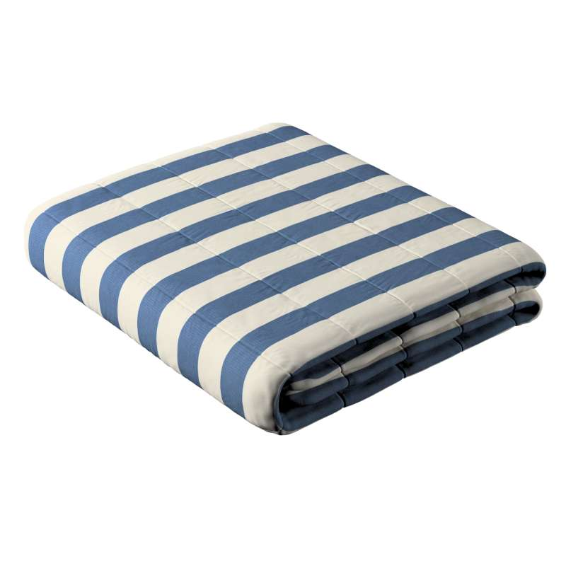 Sengetæppe quiltet<br/>10cm striber fra kollektionen Quadro II, Stof: 142-70