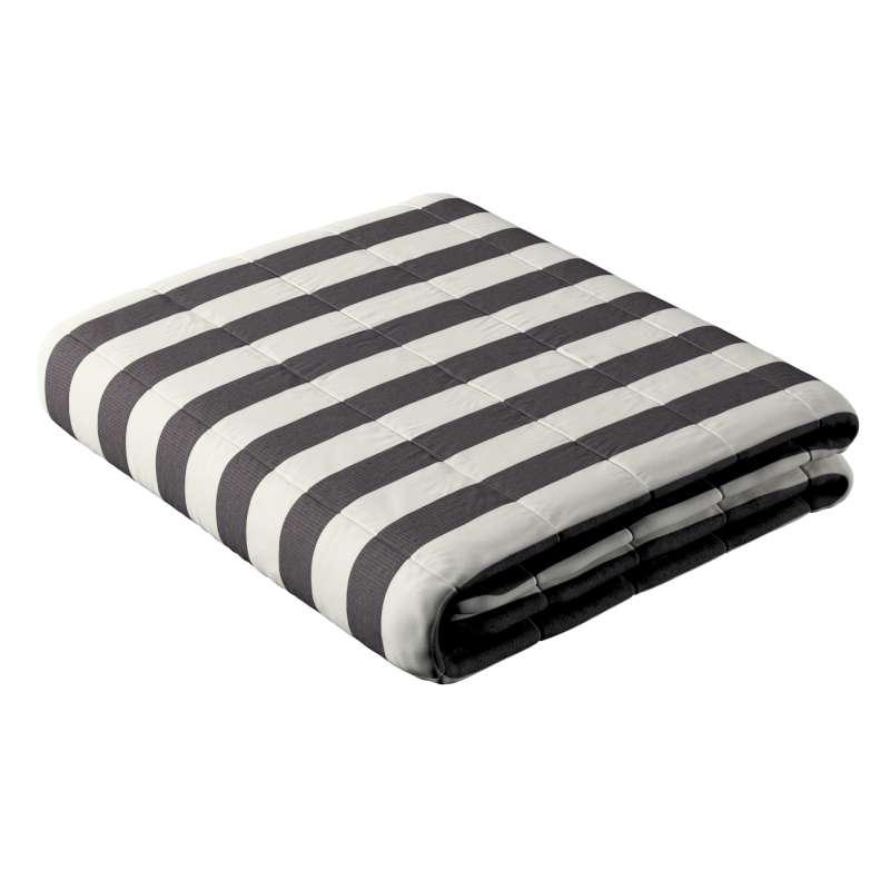 Sengetæppe quiltet<br/>10cm striber fra kollektionen Quadro II, Stof: 142-72