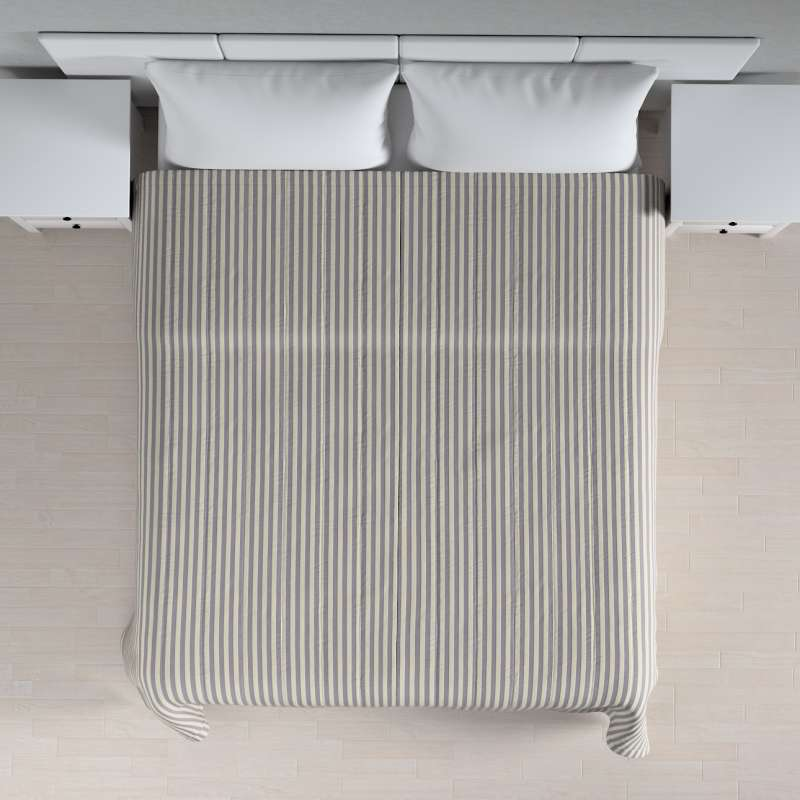 Sengetæppe quiltet<br/>10cm striber fra kollektionen Quadro II, Stof: 136-02