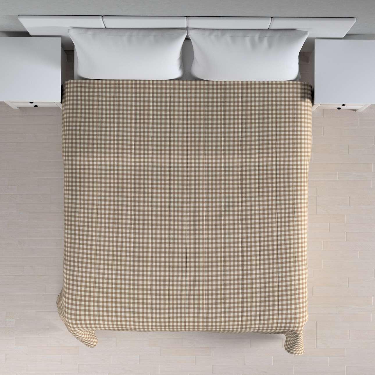 Sengetæppe quiltet<br/>10cm striber fra kollektionen Quadro II, Stof: 136-06